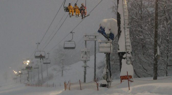 白馬五竜スキー場ナイター照明LED化完成