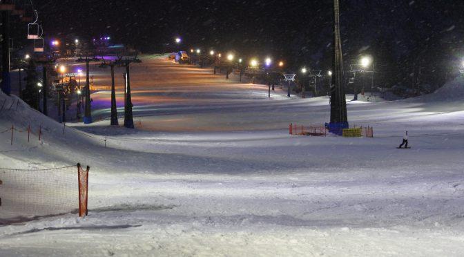 五竜スキー場のLED照明の Before After
