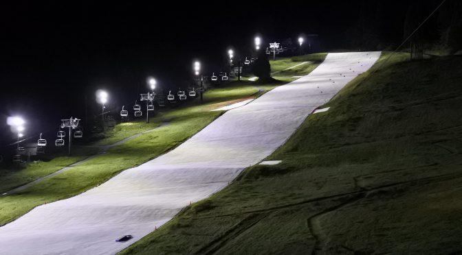 野沢温泉スキー場 日陰ゲレンデのLED化 完了